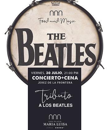 Concierto y Cena Tributo a los Beatles, viernes 30 julio, a las 21,00h PM
