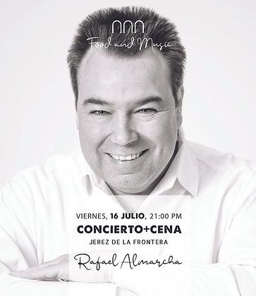 """Concierto y Cena """"Rafa Almarcha """", viernes 16 julio, a las 21,00h PM"""