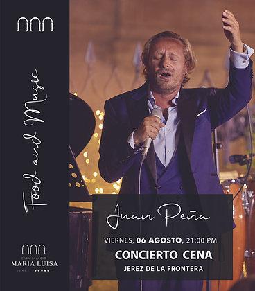 Concierto y Cena Juan Peña, viernes 06 agosto, a las 21,00h PM