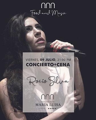 Concierto y Cena Rocío Silva, viernes 9 julio, a las 21,00h PM