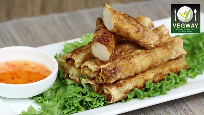 香煎虎蝦腐皮卷 | Pan-Fry Tiger Prawn Rolls