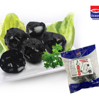 Cuttlefish Ball with Cuttlefish Ink