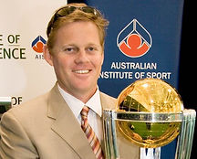 Marc Portus holding with the ICC Cricket World Cup