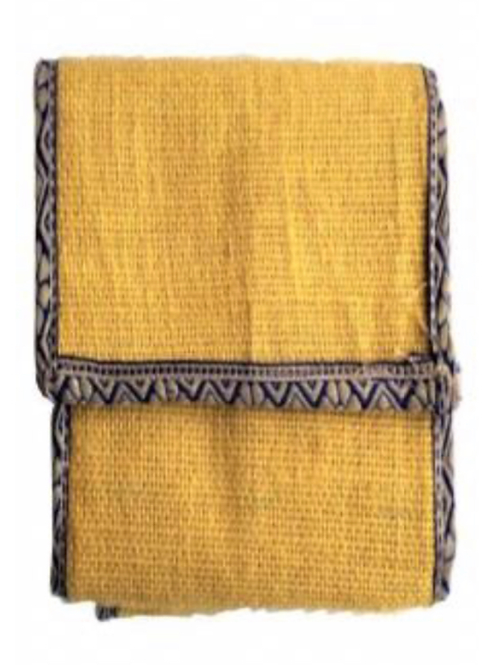 Jute Coloured Wallet with Phone Pouch (Yellow)