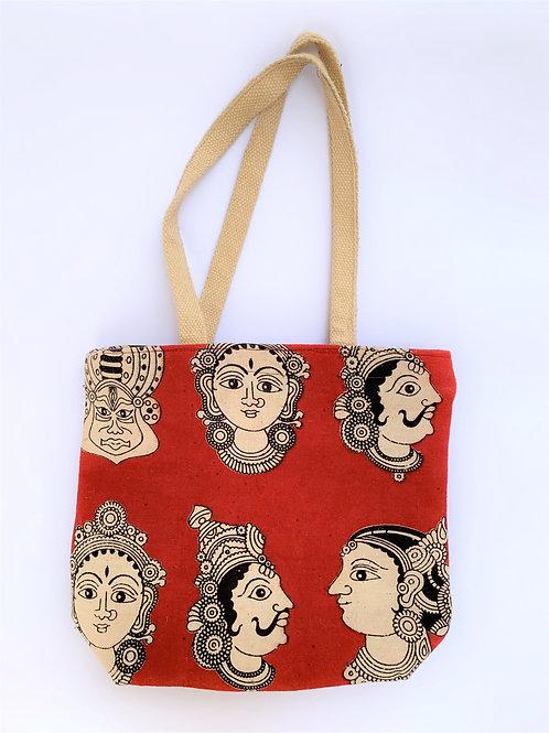 Kalamkari Bag + Zip + Inside Pockets