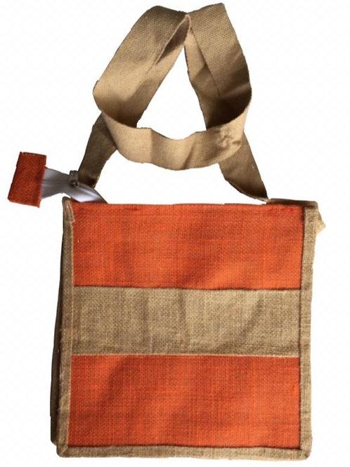 Jute Sling Bag +Zip