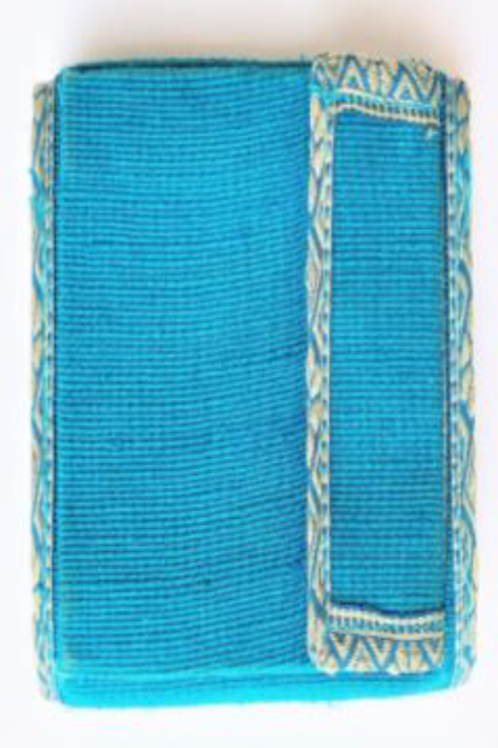 Jute Coloured Wallet with Phone Pouch (Blue)