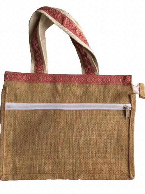 Jute Laptop bag + Two Zips