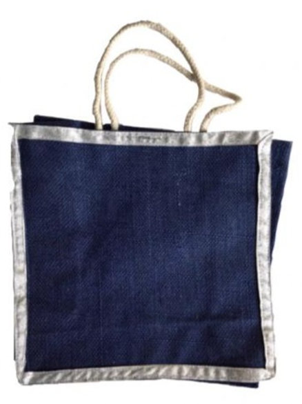 Jute Bag with Silver Border