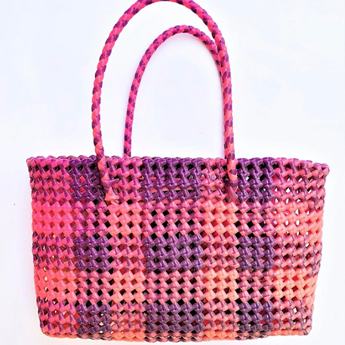 Hand Woven Pink Basket