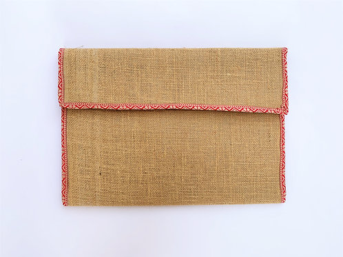 Jute Folder with Cotton Border