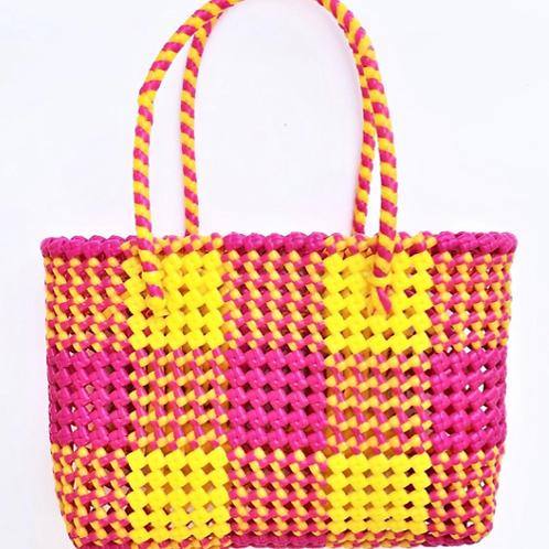 Hand Woven Orange Basket