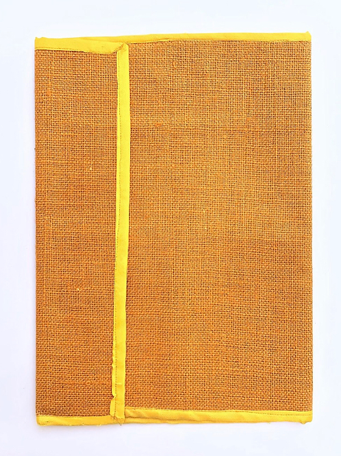 Jute Coloured Folder with Cotton Border