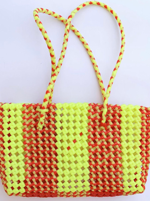 Hand Woven Yellow Basket
