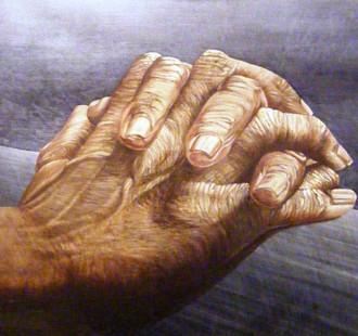 'Artist's hands' in oils