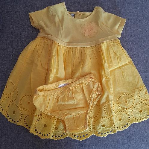 Robe manches courtes + culotte - 12 Mois