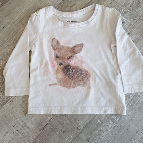 Tee shirt Manches Longues Faon - primark - 09/12 mois