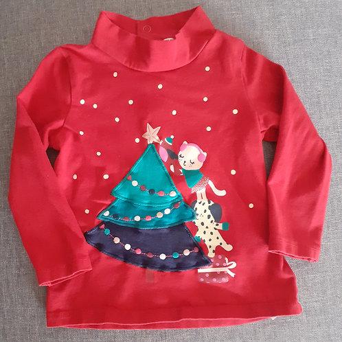 T-shirt col roulé Noël - DPAM - 18 mois