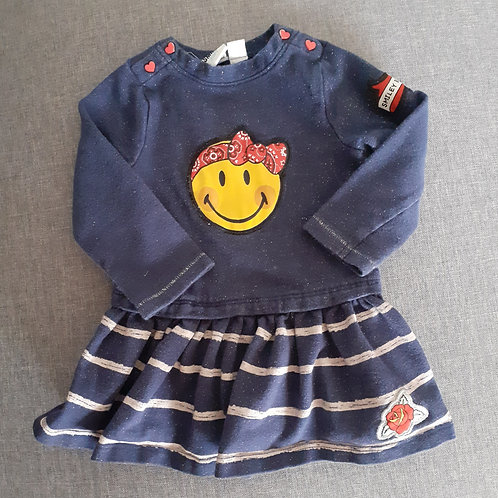Robe manches longues - Smiley - 12 Mois