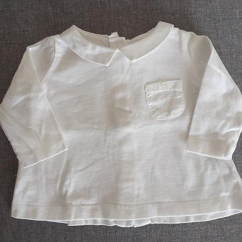 T-shirt manches longues Blanc - Bout'Chou - 3 Mois