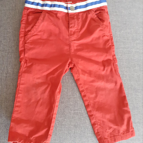 Pantalon rouge - DPAM- 12 Mois