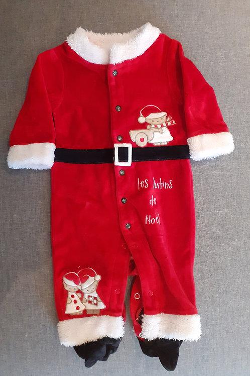 Pyjama Lutin du Père Noël - 06 Mois