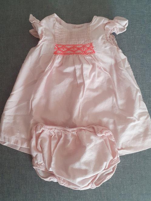 Robe sans manches et sa culotte assortie - Jacadi - 06 mois