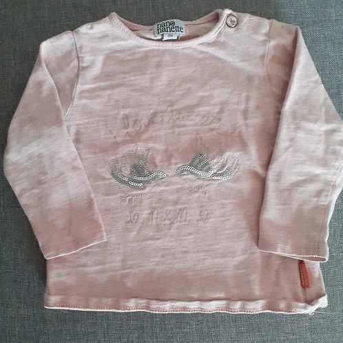 T-shirt manches longues - Nano Nanette- 12 Mois