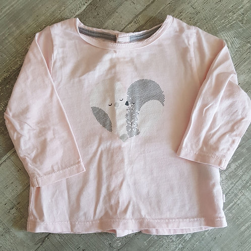 Tee shirt Manches Longues- Obaidi Okaidi - 6 mois