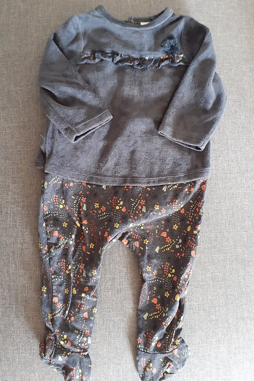 Pyjama velours - Tape à l'Oeil  - 9 Mois