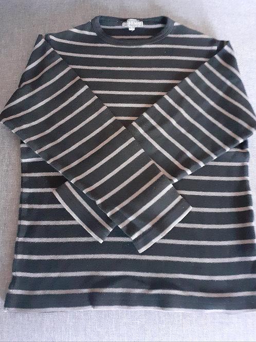 T-shirt manches longues à rayures - Best Way - 08 Ans