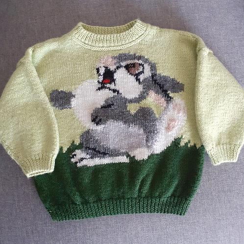 Pull en laine - Tricoté main - 03 Ans