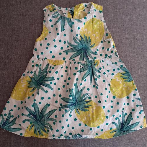 Robe ananas sans manche  - 2 ans