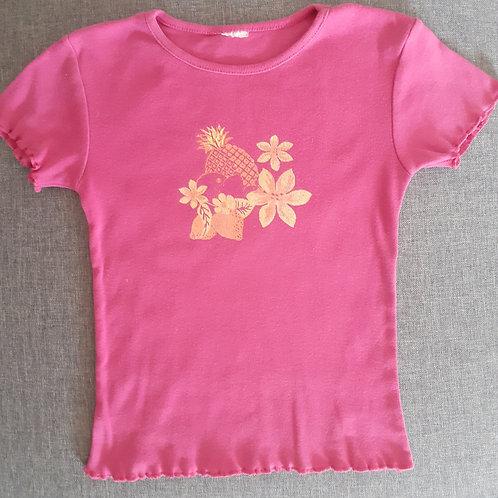 T-shirt manches courtes rose - 5 Ans