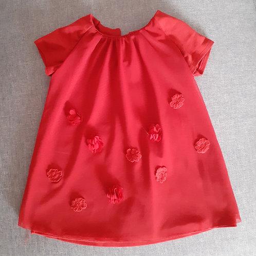 Robe rouge de cérémonie - 2 Ans
