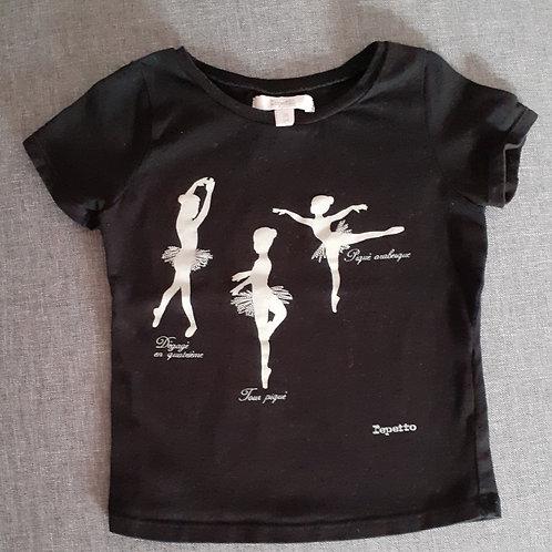 T-shirt danseuse manches courtes - Repetto - 2 Ans