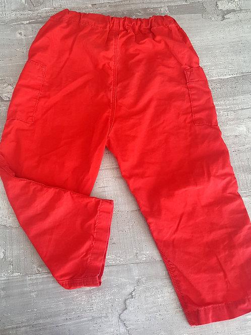 Pantalon rouge - Petit Bateau - 2 ans
