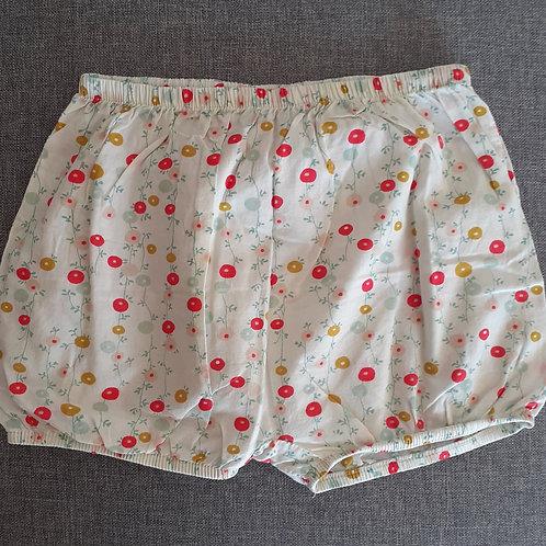 Short culotte fleuri - Bout'Chou - 12 Mois