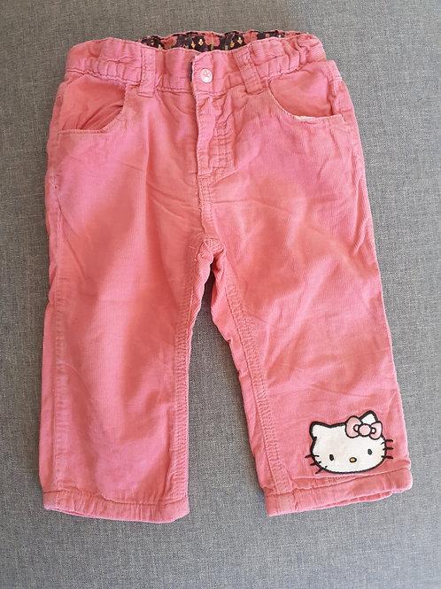 Pantalon Velours - Hello Kitty - 18 Mois