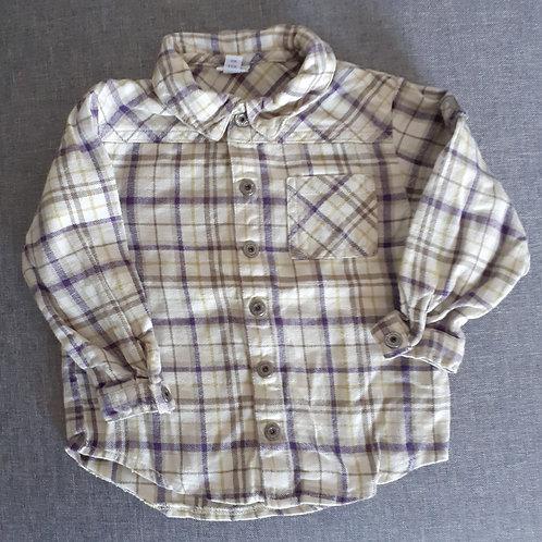 Chemise à carreaux - P'tit Bisou - 18 Mois