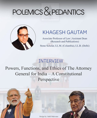 Interview with Prof. Khagesh Gautam - Part 1