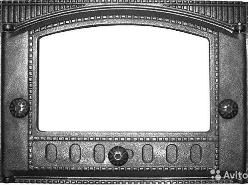 Дверка каминная крашеная  ДК-2С со стеклом