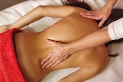 Spa treatment. Back massage. Massage the