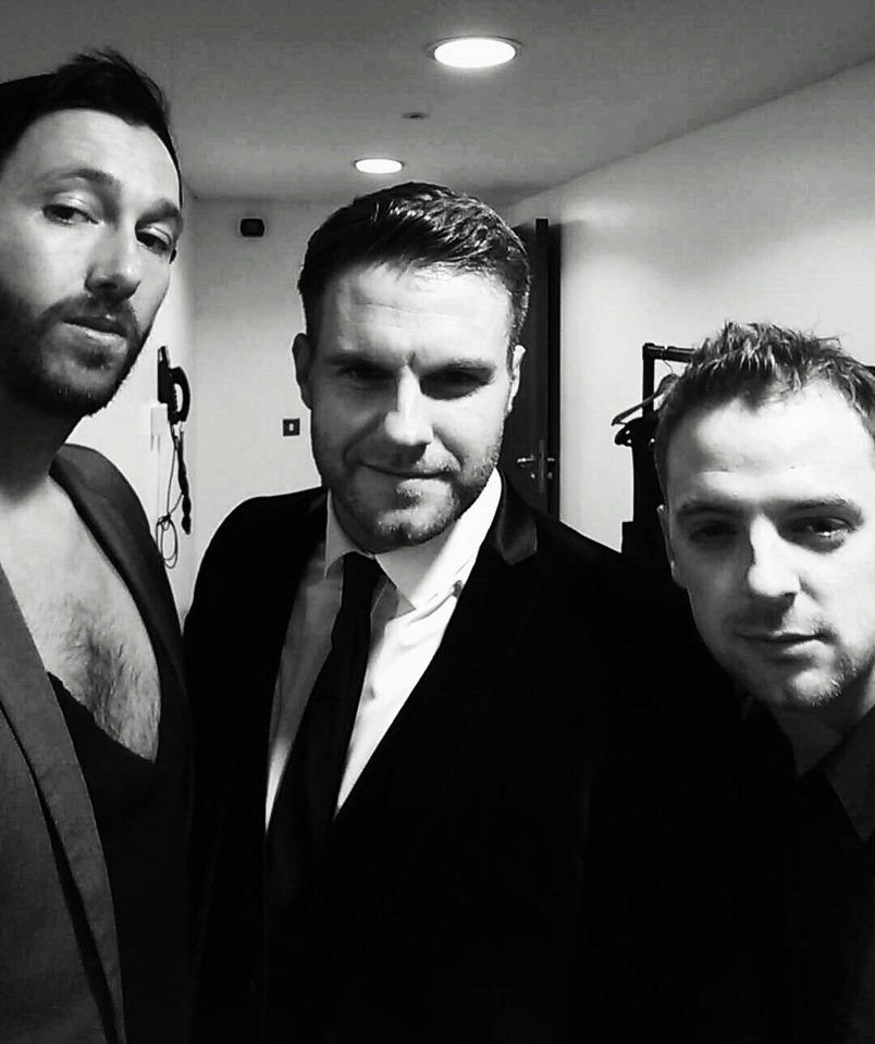 With John (Howard) and Kirky (Marky) in some dressing room in Ireland during a tour in 2015. Ireland is always a great tour, and I miss doing that.