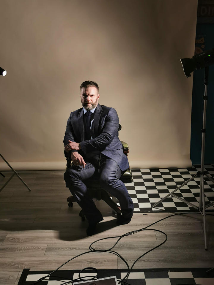 One of the behind-the-scenes shots for the 2020 photoshoot in Manchester. Four billion shots to get one decent one. Not easy when I'm the subject...