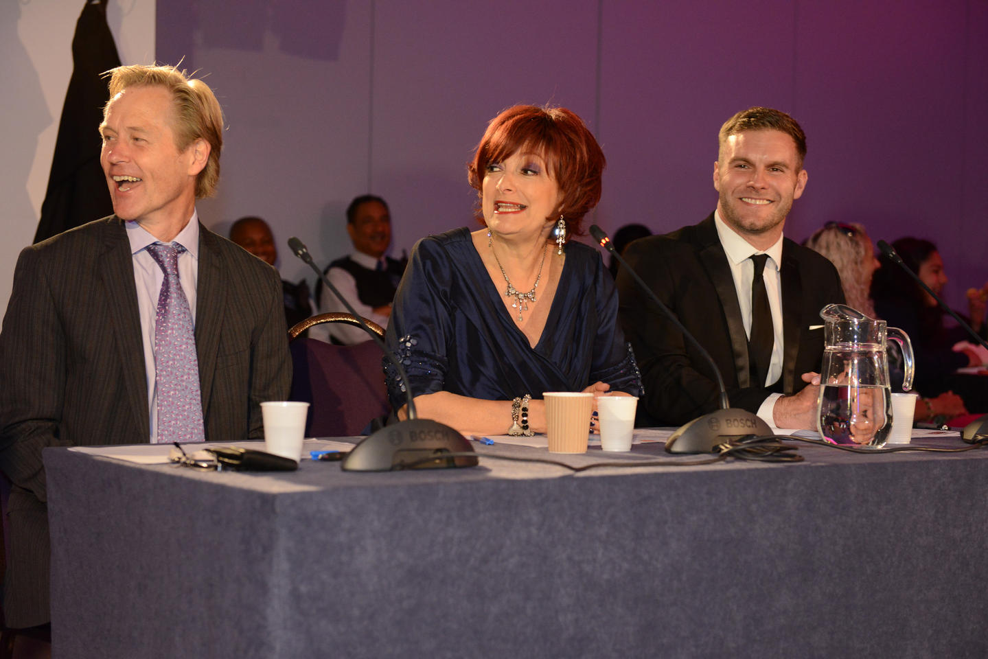 With Sharon Osbourne on the panel at the Cricked Neck Competition.