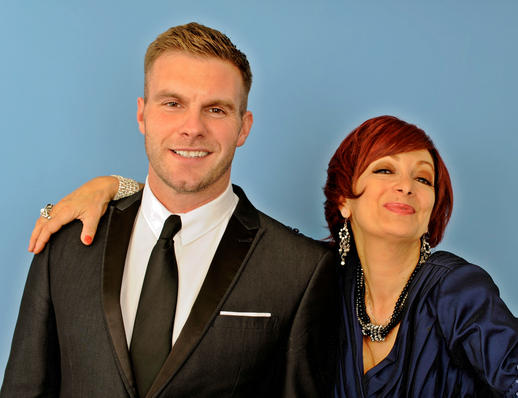 On a photoshoot in Bolton with Sharon Osbourne (also known as Caroline Bernstein) - Fabulous, darling!