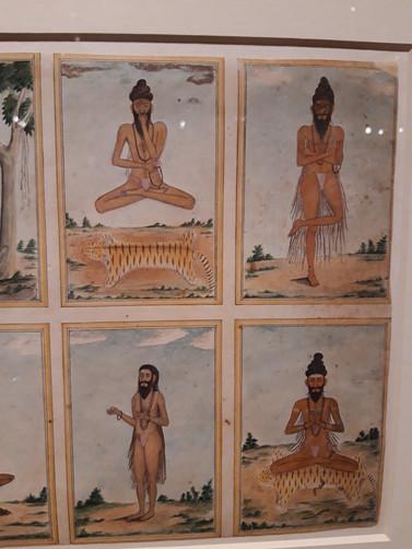 Image of ascetics practising Tapasya
