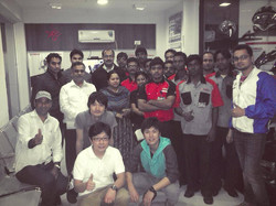With delegates
