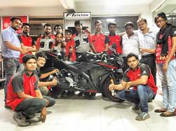 Workshop Team with Yamaha YZF R3